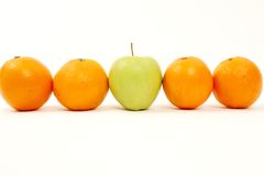 Apple and Oranges Royalty Free Stock Image