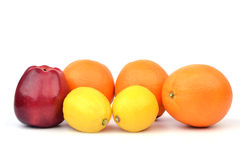 APPLE ORANGES  AND LEMON Stock Photography
