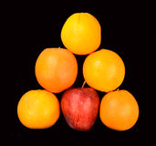 Apple and oranges Royalty Free Stock Images