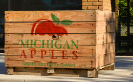 Apple Orchard Crate Royalty Free Stock Image