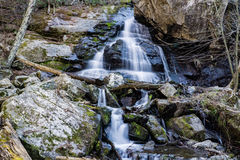 Apple Orchard Waterfalls. A view of the lower falls of Apple Orchard Waterfalls located in the Blue Ridge Mountains of Virginia, USA stock images