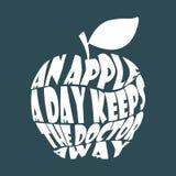 Apple ordcollage vektor illustrationer
