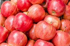 Apple. Organic Red apple group in Thailand market Royalty Free Stock Photos