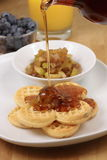 Apple organic waffles Stock Photo