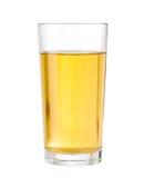 Apple ou le raisin a clarifié le jus en verre d'isolement Photographie stock libre de droits