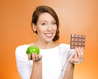 Apple over chocolate Stock Images