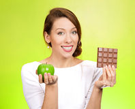 Apple over chocolate Stock Photo