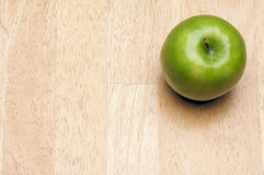 Apple Overhead on Wood Royalty Free Stock Images
