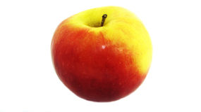 Apple på en isolerad bakgrund Arkivfoto