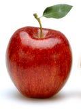 Apple på vit Arkivfoto
