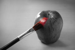Apple painting Stock Images