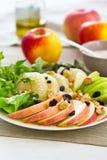 Apple, pamplemousse, salade de noix images libres de droits
