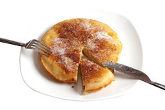 Apple pancake on a plate Royalty Free Stock Photography