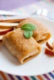 Apple pancakes Royalty Free Stock Image