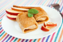 Apple pancakes Stock Image