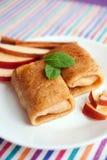 Apple pancakes Stock Image
