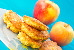 Apple pancakes Stock Images