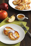Apple pancakes Royalty Free Stock Photos