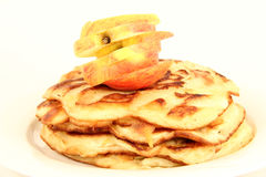 Apple pancakes Royalty Free Stock Images