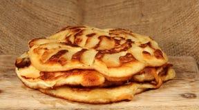 Apple pancakes Stock Photo