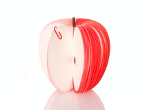 Apple from paper slice Stock Photos