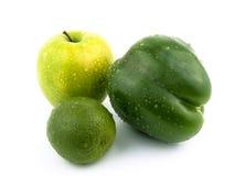 Apple, paprika e cal. Fotografia de Stock