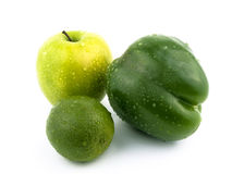 Apple, paprika and lime. Stock Photography