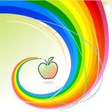 Apple par jour - série abstraite de crayon d'arc-en-ciel Illustration Libre de Droits