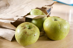 Apple in parcel Stock Photos