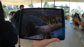 Apple parcheggia la mappa 3d stock footage