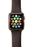 Apple passen APPabschussrampe und -ikonen auf Stockfoto