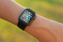 Apple passen auf Stockbild