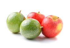 Apple and passion fruits Royalty Free Stock Photos