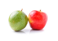 Apple and passion fruits Stock Photography