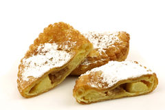 Apple pastry with powdered sugar Royalty Free Stock Photos