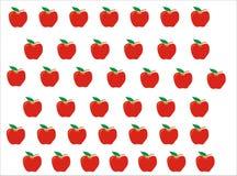 Apple-patroonachtergrond royalty-vrije illustratie