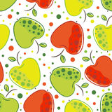 Apple pattern Stock Image