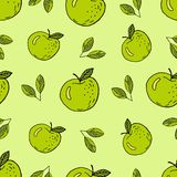 Green apples cartoon vector illustration
