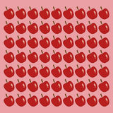 Apple pattern background healthy food icons image Stock Photos