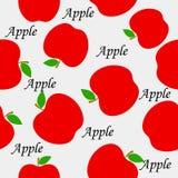 Apple pattern Stock Photo