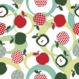 Apple pattern seamless Stock Photos