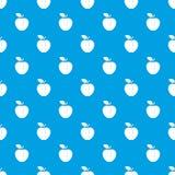 Apple pattern seamless blue Stock Image