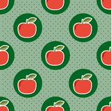 Apple pattern. Seamless texture with ripe red apples Stock Image