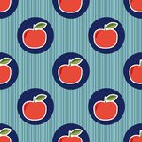 Apple pattern. Seamless texture with ripe red apples Royalty Free Stock Photos