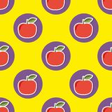 Apple pattern. Seamless texture with ripe red apples Royalty Free Stock Photography
