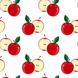 Apple Pattern. Vector illustration Stock Photos