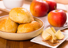 Apple patty cakes Stock Photos