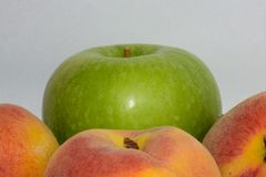 Apple and peach Royalty Free Stock Image