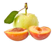 Apple and peach Stock Image