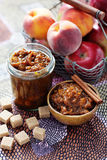Apple and peaches chutney Royalty Free Stock Photography